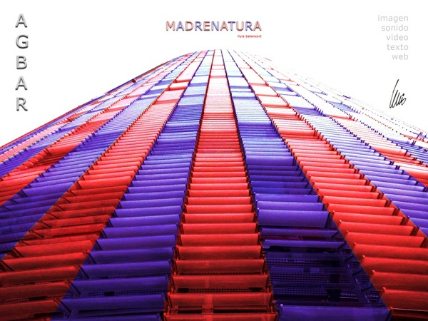 Torre Agbar Colors Barcelona Foto Retoke lluis betancort