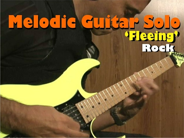 "MELODIC GUITAR ROCK SOLO NEOCLASSICAL ""FLEEING"""