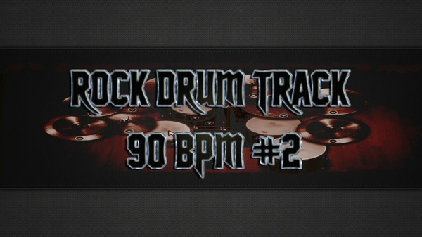 Rock Drum Track 90 BPM #2