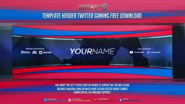 Template 2d Clean Header Twitter Gaming