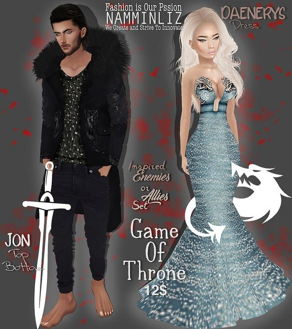 Enemies or Allies Set 3 Game of Throne Jon & Daenerys