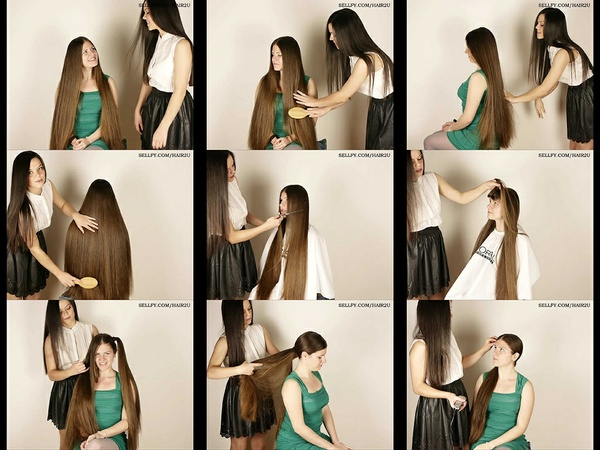 Suzana 5 & Biljana Hair Play