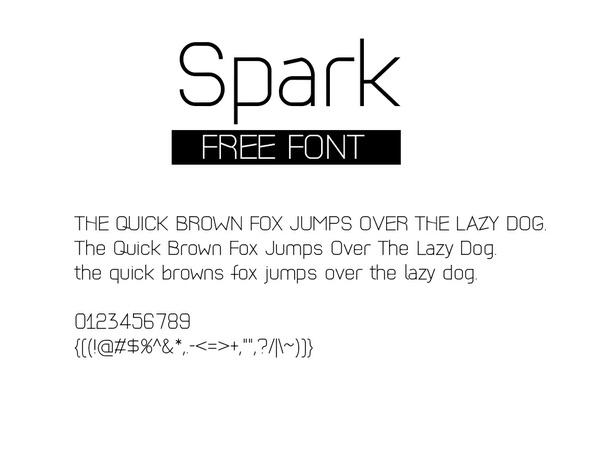 Free Modern Font Spark