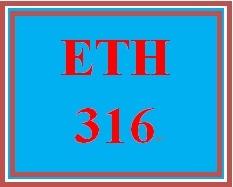 ETH 316 Week 2 Critical Thinking Scenario
