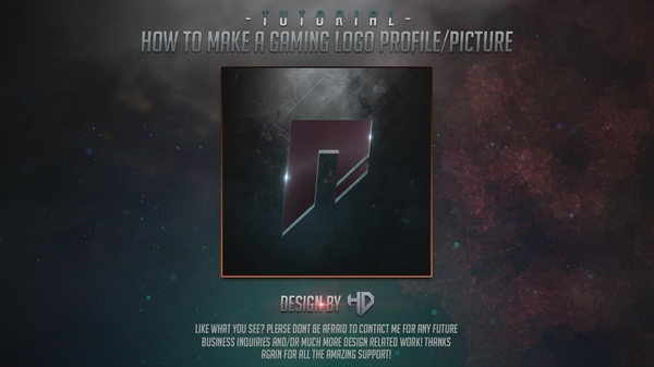 Template avatar/profile Gaming Logo in Photoshop cc