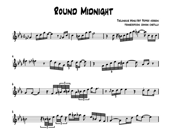 "Art Pepper - ""Round Midnight"" - Sax alto."