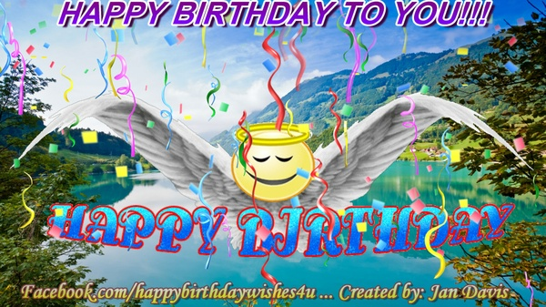 Angel Wings Happy Birthday Wishes 4U