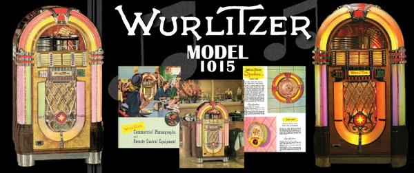 """Wurlitzer Model 1015 (1946-7) """"Bubbler"""" Manual, Parts List & Brochure"""
