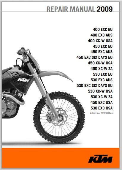 2009 KTM 400 450 530 XC-W EXC SIX DAYS Service Manual pdf download