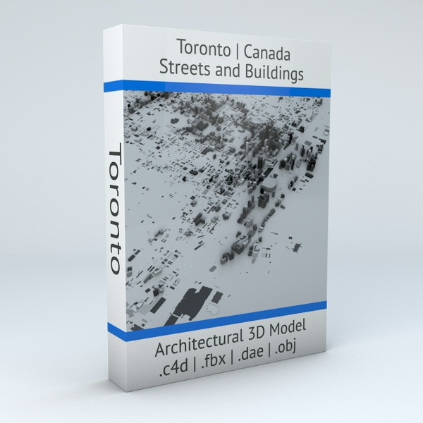 Toronto Streets and Buildings Architectural 3D Model