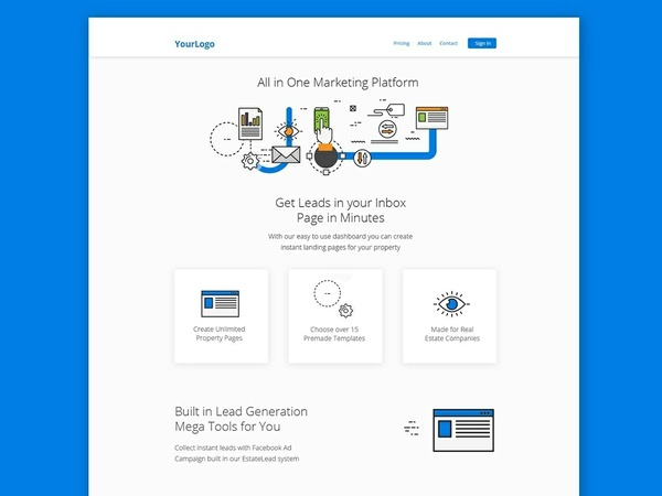 Premium Landing Page PSD Website Template