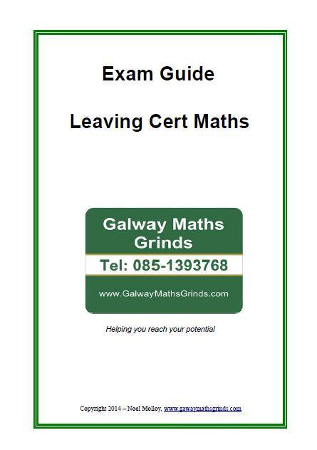 Exam Guide - Leaving Cert Maths