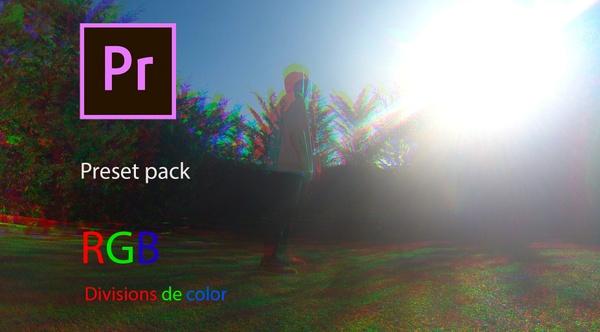 RGB split Preset pack ESPAÑOL Premiere Pro