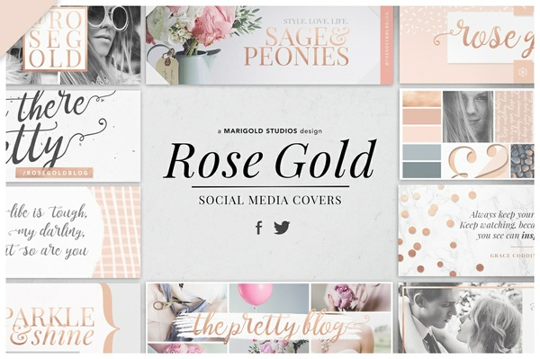 ROSE GOLD | Social Media Covers