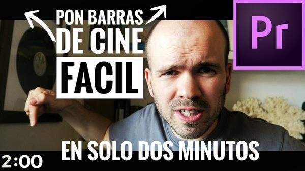 Como poner BARRAS NEGRAS de cine en Adobe Premiere