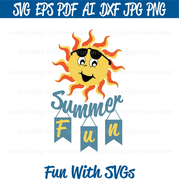 Summer Fun SVG - Cut File, High Resolution Printable Graphics and Editable Vector Art