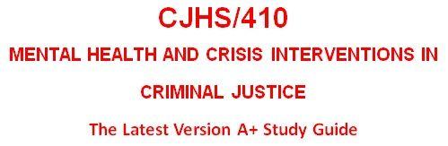 CJHS 410 Week 1 Skills and Characteristics of Mental Health Paper
