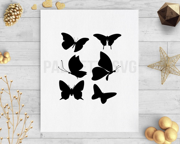 Butterfly svg dxf cut file silhouette cricut download