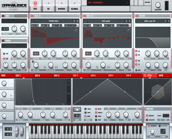 Dark Silence Sound Design ALPHA V1 RED XFER SERUM SKIN