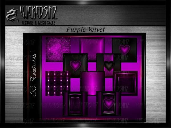 Valentine Purple Velvet - $7.50 - 33 Textures