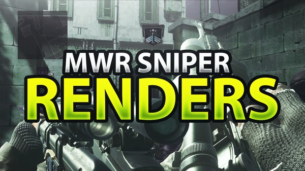 Modern Warfare Remastered Sniper Rifle Render Pack
