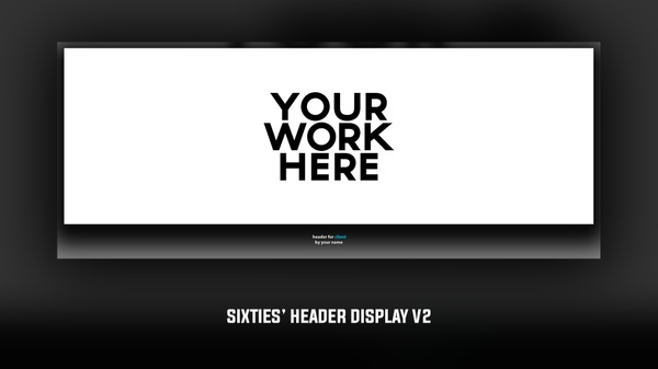 Sixties' Free Header Display Template v2