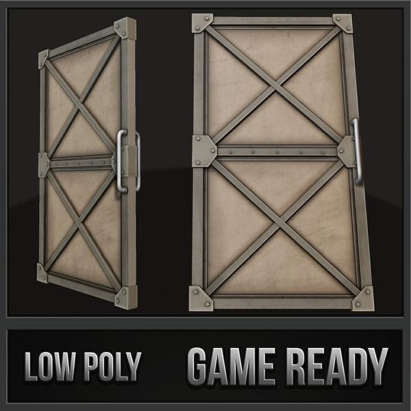 Steel Door | 3D Low Poly Model