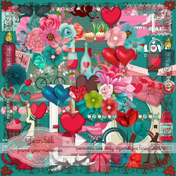 """Be mine"" Valentine's day scrapbook kit"