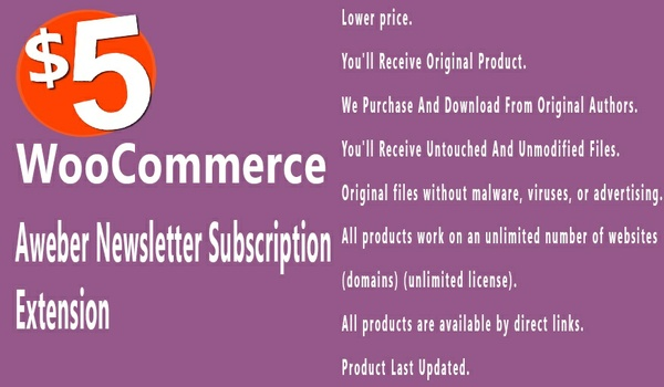 WooCommerce Aweber Newsletter Subscription 1.0.14 Extension