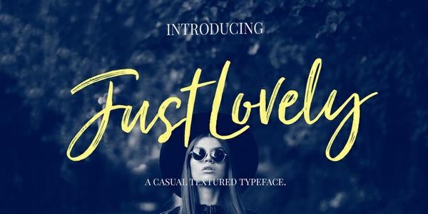 Just Lovely | Font Family