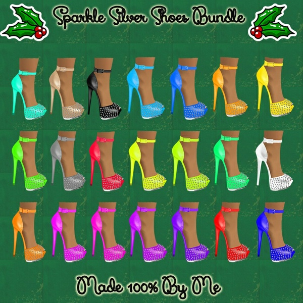 Sparkle Silver Shoes Bundle Catty Only!!!