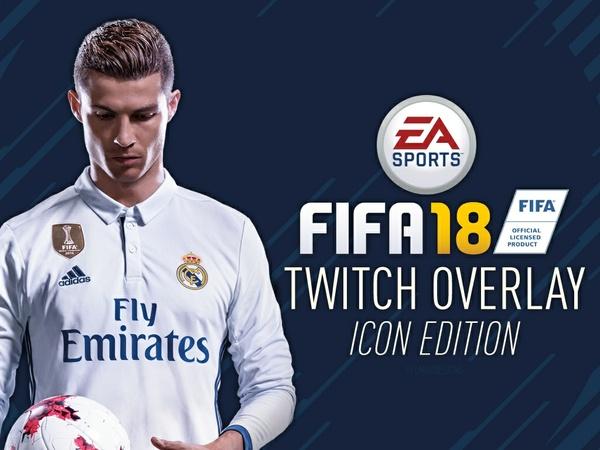 FIFA 18 Customisable Twitch Overlay - Icon Edition (Adobe Illustrator)