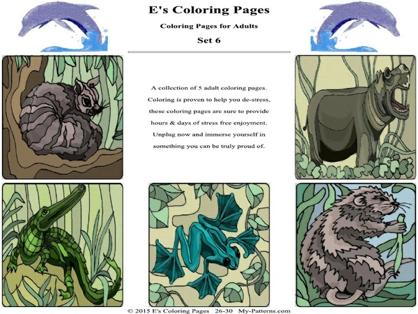 E's Coloring Pages - Set 6