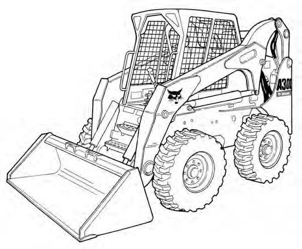 Bobcat A300 All-Wheel Steer Loader Service Repair Manual Download 4