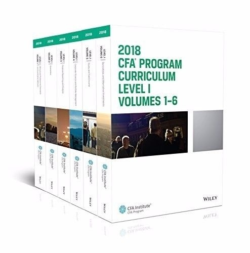 CFA Program Curriculum 2018 Level I Volumes 1-6 Set Box ( AZW3 , Kindle Format 8 ) Instant download