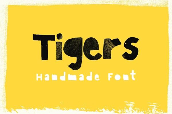 Tigers – Handmade Font 🐯