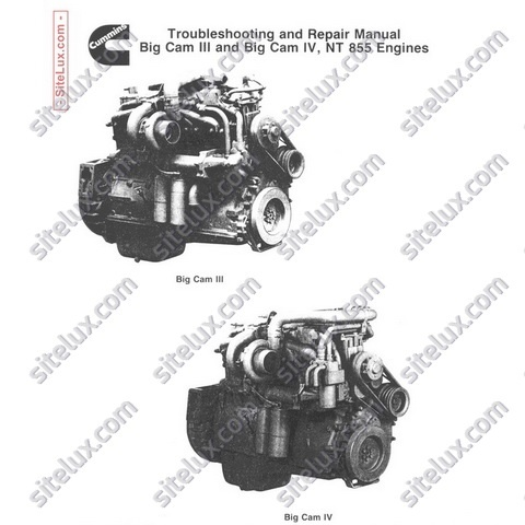 Cummins NT 855 BC-III BC-IV Engines Troubleshooting and Repair Manual