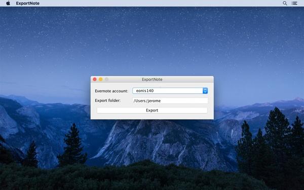 ExportNote (Mac)