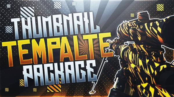 TF 141 Sniper Rifle - Bengal Camo - Thumbnail Template Pack