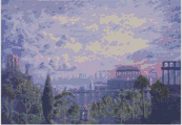 cross stitch pattern Mar-051c
