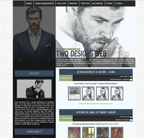 WP Premade 1 - Chris Hemsworth