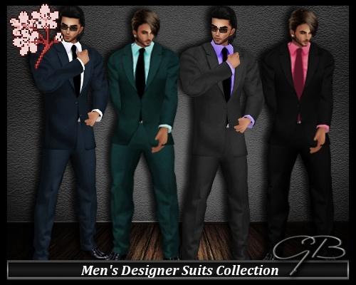 Men's Designer Suits Collection