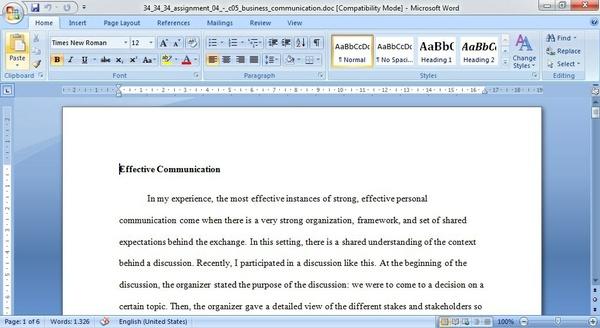 ASSIGNMENT 04 - C05 Business Communication