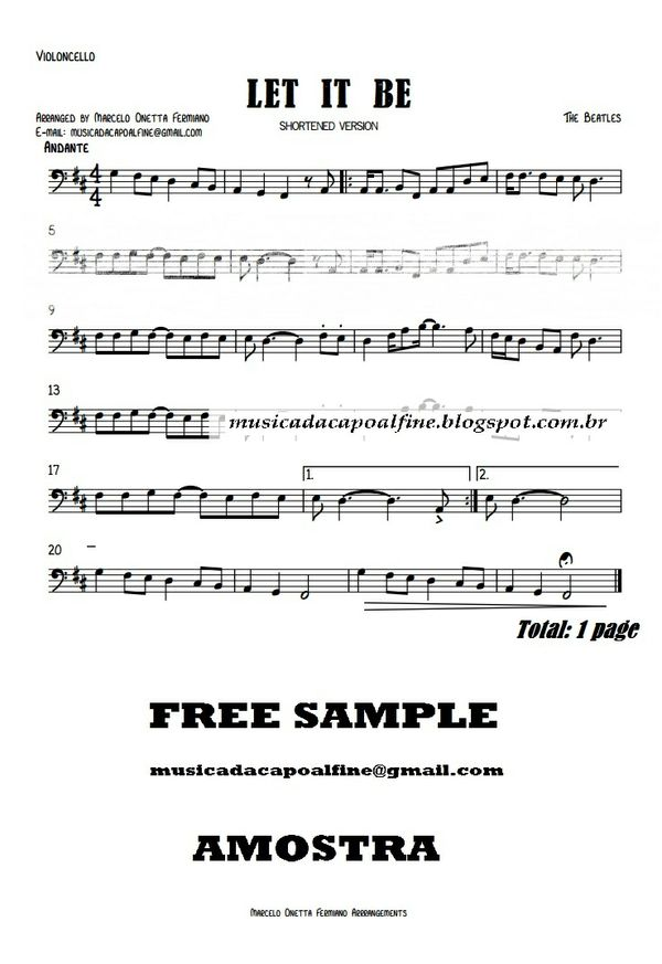 Let it Be - Violoncello solo- Sheet Music Download.pdf