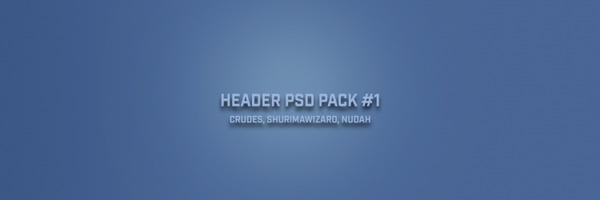 HEADER PSD PACK #1