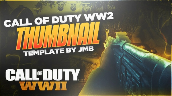 Call Of Duty World War 2 Render Pack - Updated + Thumbnail Template ( COD WII)