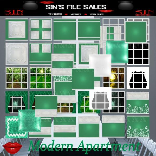 Modern Apartment * 40 Textures