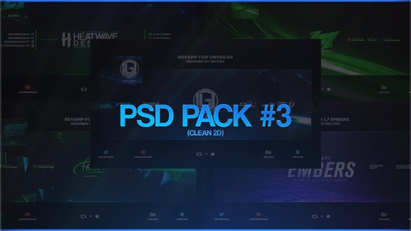 PSD Pack #3 (Clean 2D)