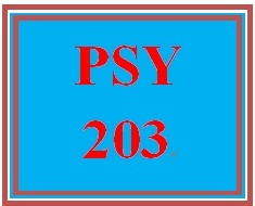 PSY 203 Week 3 Week Three Quiz