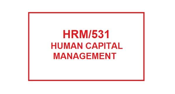 HRM 531 Week 1 Knowledge Check
